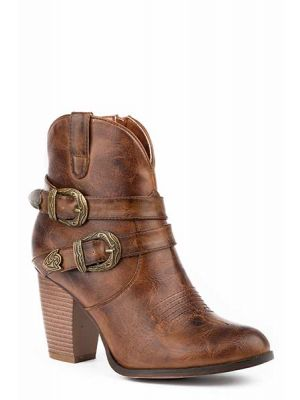Roper Brown Shorty Boot