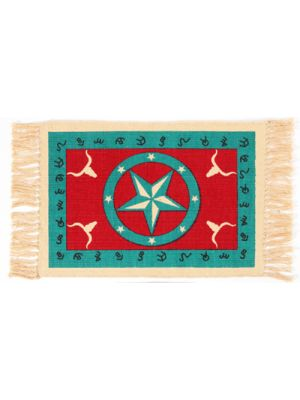 El Paso Saddleblanket Cotton Stencil Placemat- Cowboy Design (Assorted Styles)