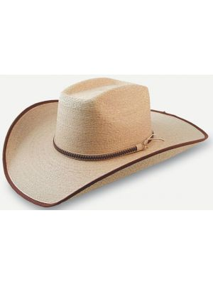 Sunbody Boxtop Golden Mexican Palm Straw Hat