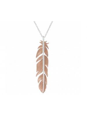 Montana Silversmiths Sunlit Phoenix Feather Necklace
