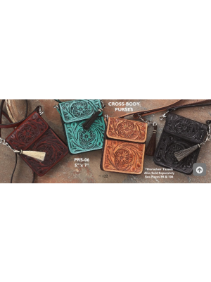Handtooled Crossbody Purse