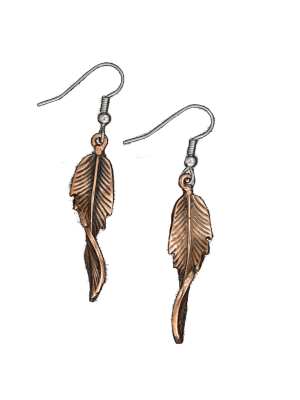 Vogt Whitney Feather French Hook Earrings