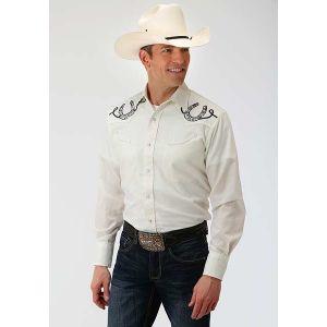 Roper Cream Horseshoe Shirt