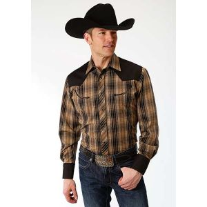 Roper Brown and Black Plaid Shirt