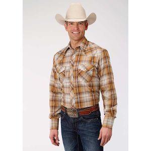 Roper Rust & Cream Plaid Shirt