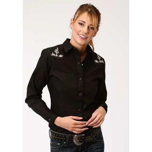 Roper Old West Cactus Black Shirt