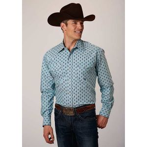 Roper Men's Amarillo Collection Cool Pines Shirt