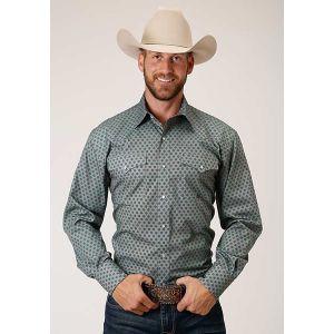 Roper Amarillo Collection Diamond Fluer Foulard Shirt