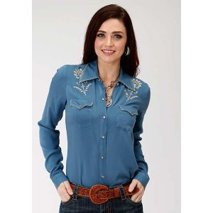 Roper Embroidered Rayon Western Shirt