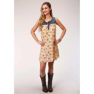 Roper Wild West Print Sleeveless Dress