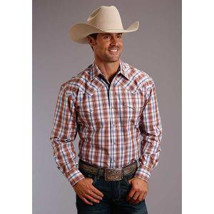 Stetson Desert Dobby Plaid Shirt