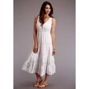 Stetson Cotton Sleeveless Tiered Dress