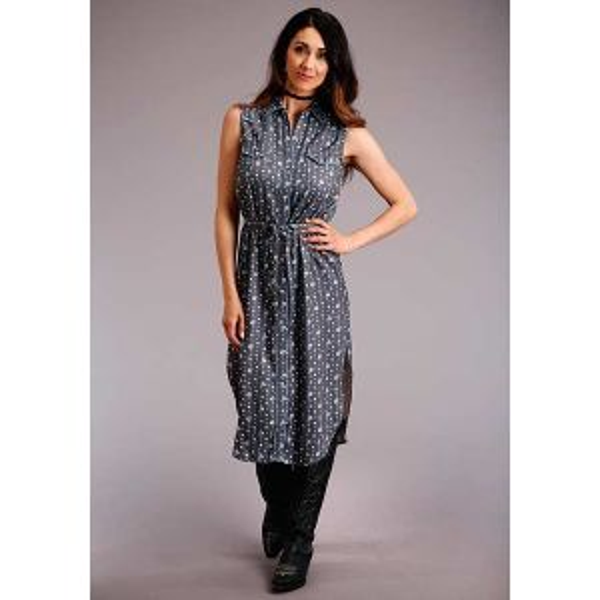 Stetson Western Sleeveless Print Dress
