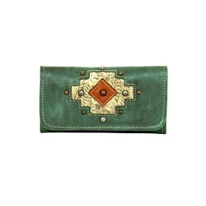 American West Turquoise Wallet