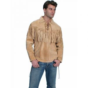 Scully Leather Bourbon Boar Suede Shirt