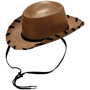 Kid's Woody Straw Hat-Brown