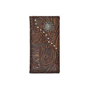 3D Brown Western Rodeo Wallet