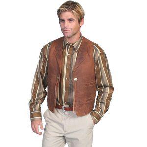 Scully Vintage Lamb Concho Vest