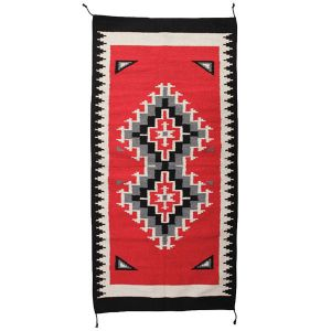 El Paso Saddleblanket Maya Modern 20x40 Wool Rug (Assorted Styles)