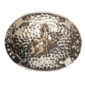 "And West ""Escalante"" Vintage Two-Tone Bull Rider Buckle"