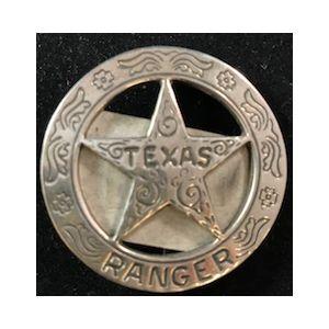 Silver Texas Ranger Badge