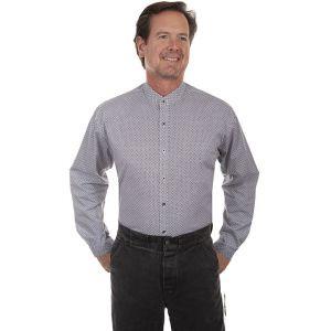 Scully RangeWear Button Front Band Collar Shirt