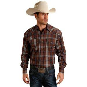 Stetson Men's Long Sleeved Snap Shirt
