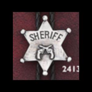 Bolo Sherrif Badge with Pistols