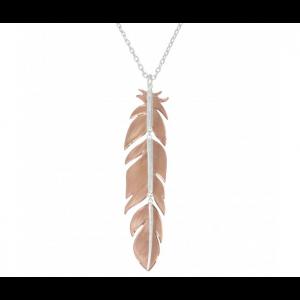 Montana Silversmiths Sunlit Phoenix Feather Necklace