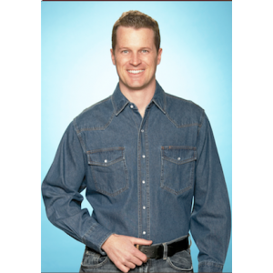 Ely Cattleman Men's Washed Denim Shirt