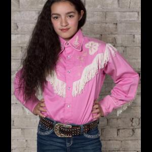 Rockmount Kid's Embroidered Fringe Pink Western Shirt