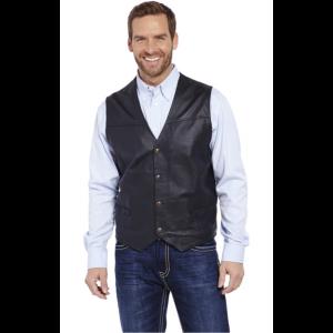 Cripple Creek Men's Snap Front Leather Vest