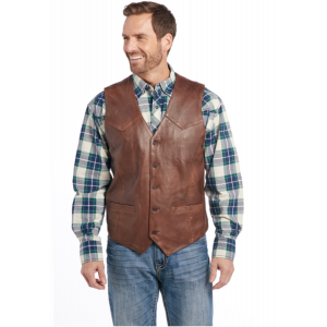 Cripple Creek Men's Button Front Lamb Nappa Vest