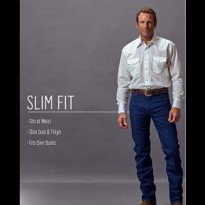 Wrangler Cowboy Cut Slim Fit Jean in Prewashed Indigo