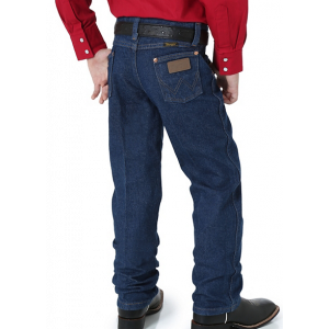 Wrangler Toddler's and Boy's Prewashed Cowboy Cut Original Fit Jean in Prewashed Indigo