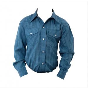 Roper Western Shirt Boys L/S Dobby Stripe Snap