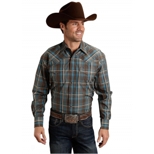 Stetson Men's Long Sleeved Plaid Shirt