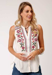 Roper Embroidered Sleeveless Top