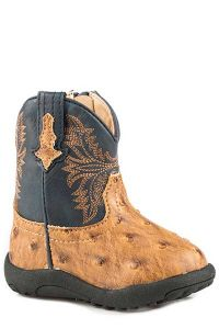 Roper Infants Embossed Ostrich Boot