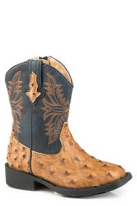 Roper Toddlers Embossed Ostrich Boot