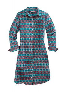 Tin Haul Coral Aztec Long Sleeve Duster