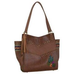 Catchfly Cactus Embroidery Women's Conceal & Carry Shoulder Bag