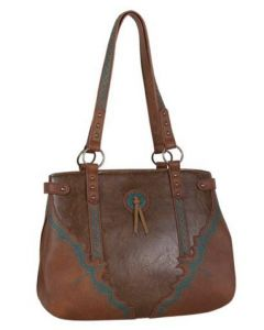 Justin Brown with Turquoise Stitch Tote