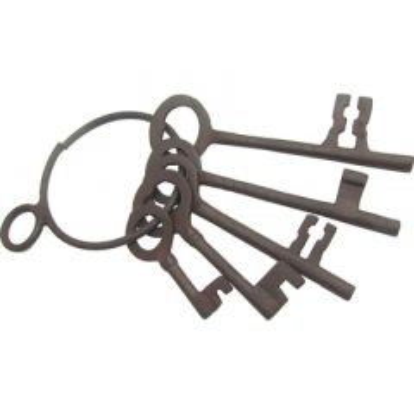 Antiqued Old West Jailer's Keys