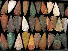 "5"" Hand Chipped Showcase Arrowheads (assorted colors)"