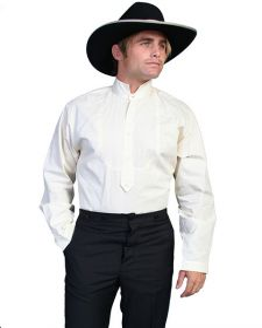 Wahmaker Old West High Collar Solid Shirt