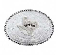 Montana Silversmiths Antiqued Silver 6189 Series Texas State Western Belt Buckle