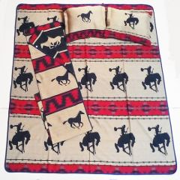 El Paso Saddleblanket Cowboy Up King Size Bedspread