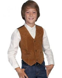 Scully Kid's Boar Suede Vest