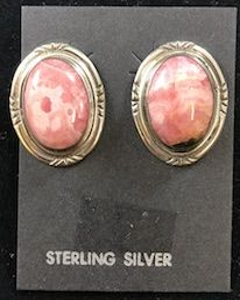 Rhodochrosite Stone Earrings